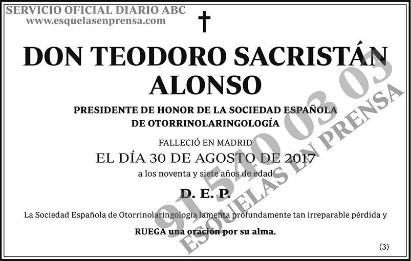 Teodoro Sacristán Alonso
